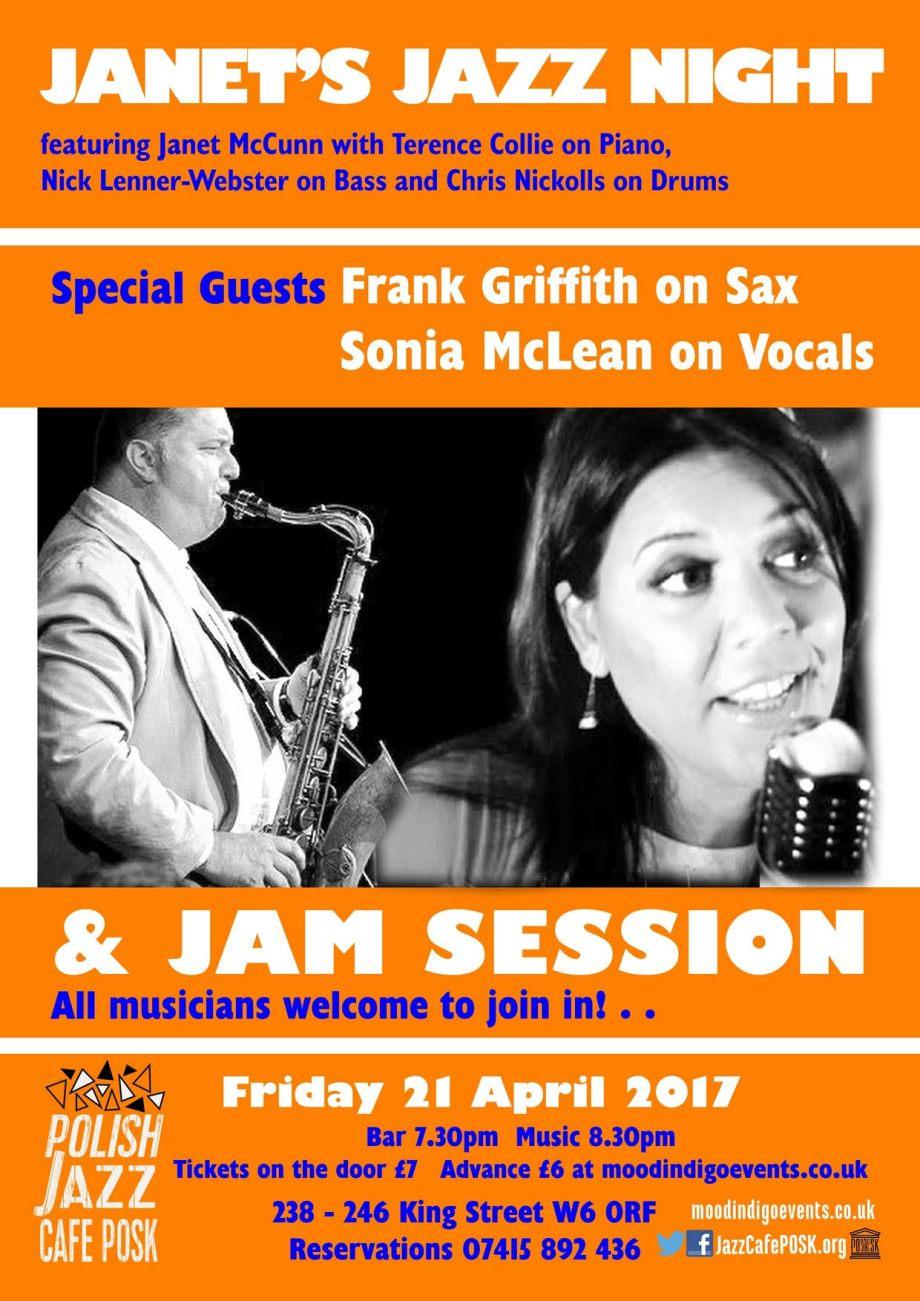 Jazz Cafe Posk, 21-4-2017
