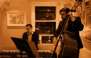 Tom on Piano, Alex on Double Bass