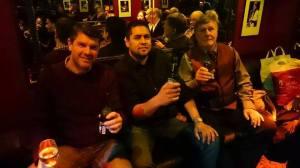 Enjoying the music at Ronnie Scotts