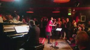 Sonia McLean singing at Ronnie Scotts